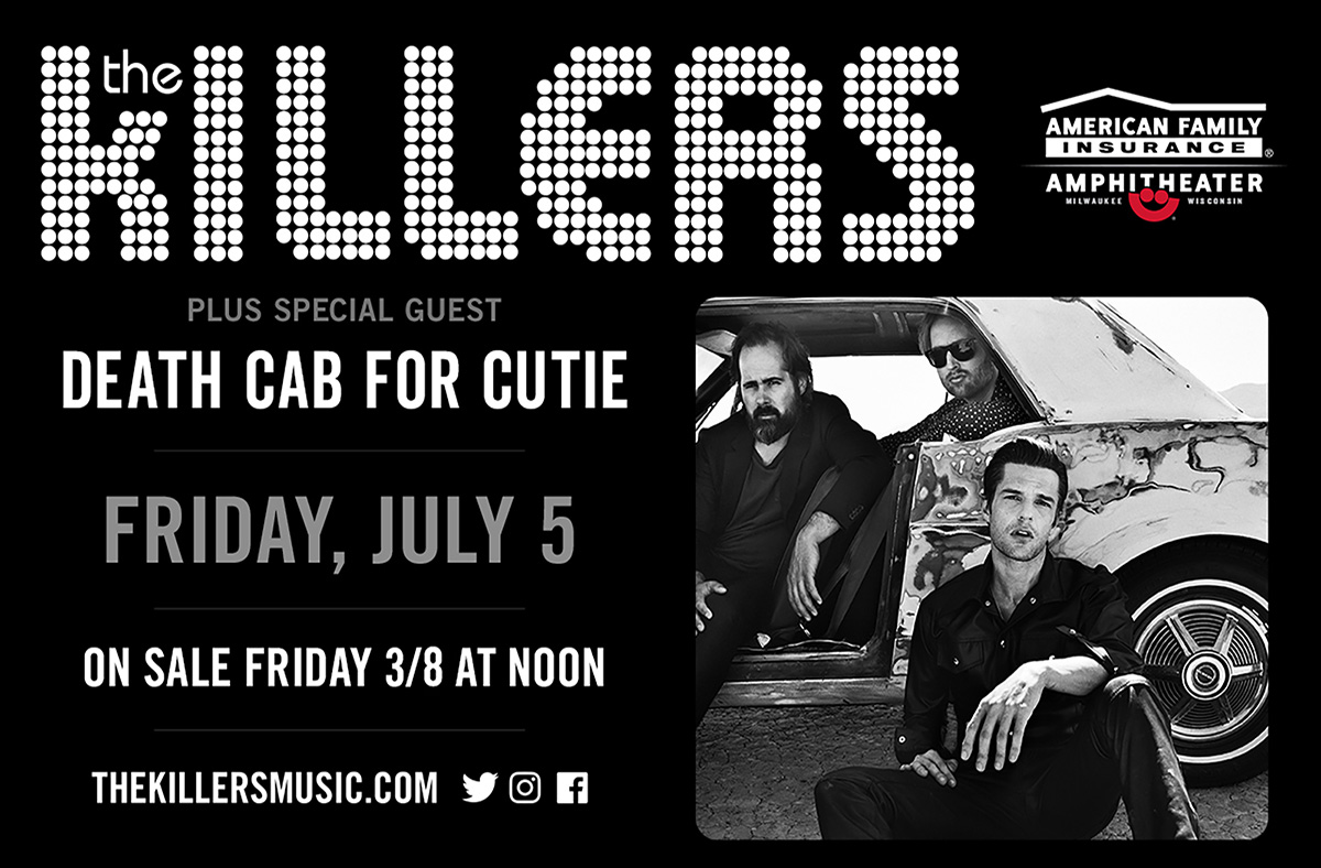 The Killers To Headline July 5th