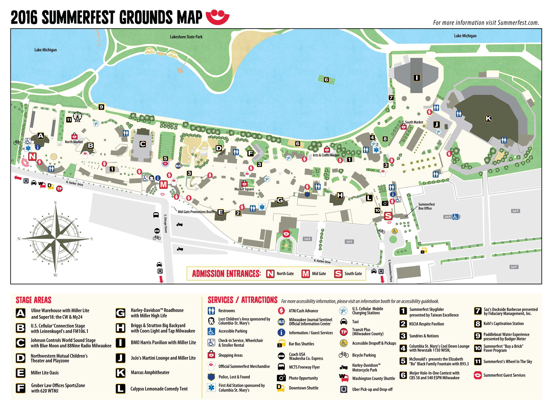 Summerfest Music Festivals Eventful - Summerfest grounds map